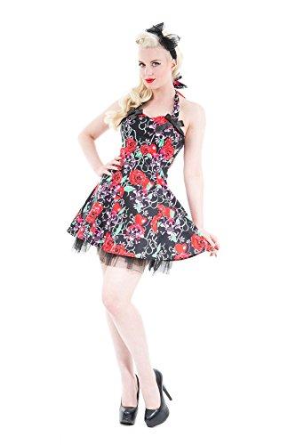 Love CamdenDamen Kleid Schwarz Black/pink