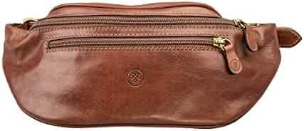 ce0d2fd94c Maxwell-Scott Luxury Handcrafted Italian Full Grain Leather Fanny Pack / Bum  Bag (Centolla