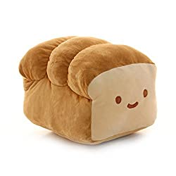 """Bread 6"""", 10"""", 15"""" Plush Pillow Cushion Doll Toy Home Bed Room Interior Decoration (6 inches)"""