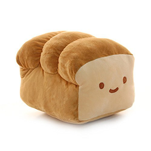 Bread 6'', 10'', 15'' Plush Pillow Cushion Doll Toy Home Bed Room Interior Decoration (6 inches) by Choba