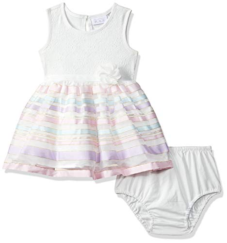 The Children's Place Baby Girls Novelty Printed Dress, Simplywht, 9-12MOS (Best Places For Dresses)