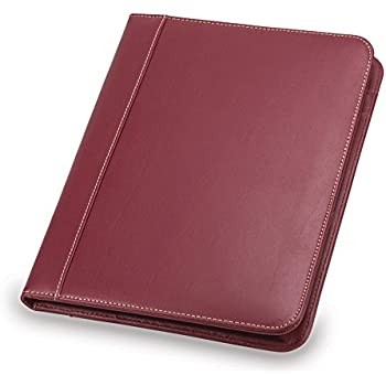 Amazoncom Samsill Contrast Stitch Leather Padfolio