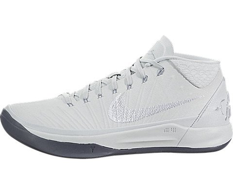 Nike Men's Kobe AD Mesh Basketball Shoes (12 M US, Pure Platinum/White/Metallic - Shoes Men Kobe Basketball
