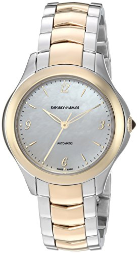 Emporio Armani Swiss Made Women's 'Esedra Lady Auto Watch' Swiss Automatic Stainless Steel Casual, Color:Silver-Toned (Model: ARS8551)
