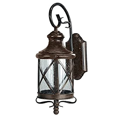 eTopLighting Lux Collection Exterior Outdoor Lantern Light with Rain Glass
