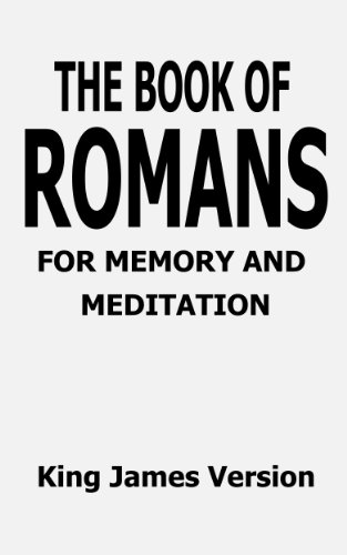 The Book of Romans for Memory and Meditation (Bible Books for Memory and Meditation)
