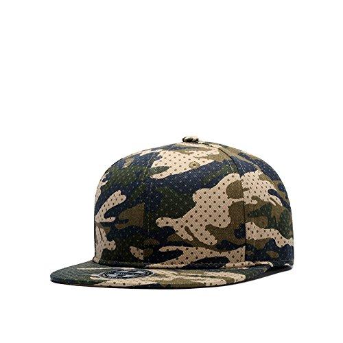 Bill Cap Camo (Sunlitro Unisex Camouflage Flat Bill Hip Hop Hat Snapback Baseball Cap (W124))