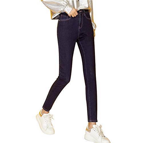 Rlwfjxh Donn Size Confortevole Autunno 4l Casual Jeans A Donna Pile Skinny 50 Vita Blu L Plus Alta Kg Matita In Scuro 120 qf7rqw5x
