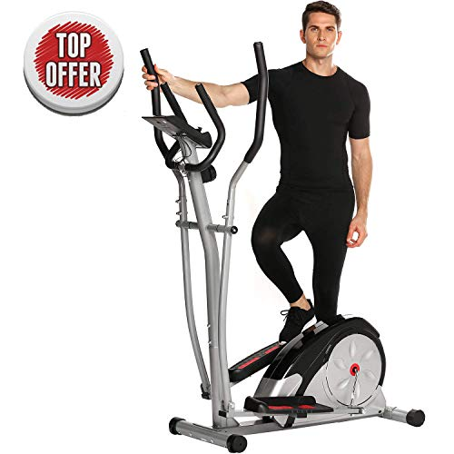 ncient Elliptical Machine Eliptical Exercise Trainer Machine for Home Use Magnetic Smooth Quiet Driven, Top Levels Elliptical Trainer (Gray-New)