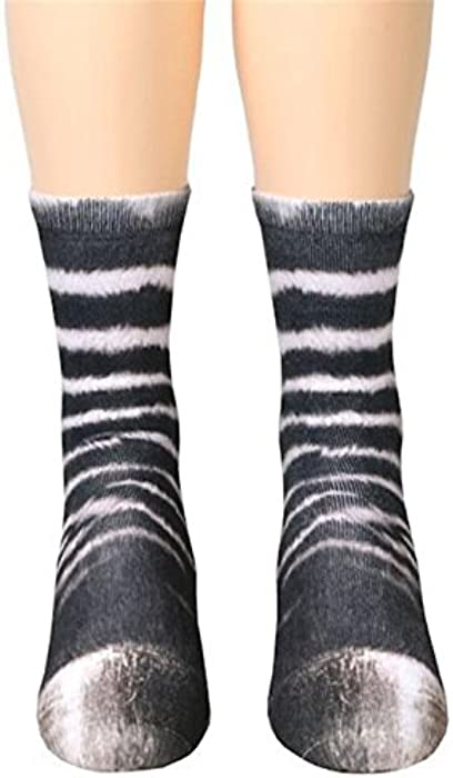 Kinlene 6-12 años de edad, niños, niños, animales, pata, tripulación, calcetines, impresión sublimada.