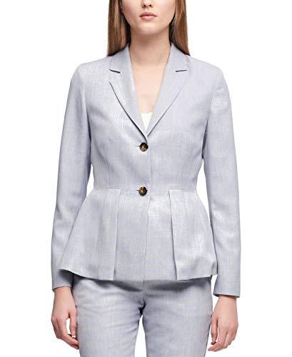(DKNY Womens Peplum Two-Button Two-Button Blazer Blue 14)