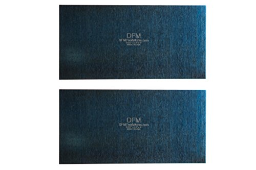 (DFM Tool Works Blue Cabinet Scraper Rectangle Sets- MADE IN USA - Multiple Sizes (2, 0.032