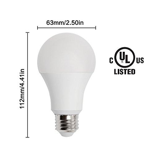 14w 100w 150w equivalent 4 pack a19 led light bulb. Black Bedroom Furniture Sets. Home Design Ideas