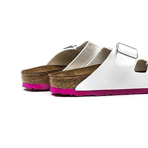 Birkenstock Arizona - Sandalias para mujer Blanco (Weiss  Lack Ls Pink)