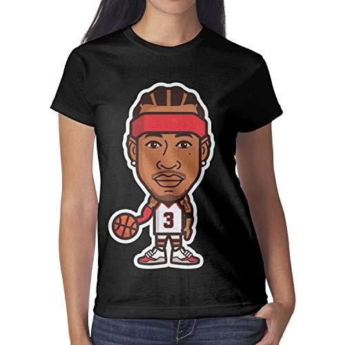 Womens American Basketball Short T-Shirt Outdoor Cartoon Classic Sport
