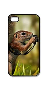 TUTU158600 Custom Cover Case with Hard Shell Protection case iphone 4s black - Animal Humor Funny Animals