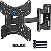 #LightningDeal PERLESMITH Full Motion TV Wall Mount Bracket with Swivels Tilts & Extends - for 13-42 Inch Flat Curved TVs & Monitors Max VESA 200x200 - Robust VESA Wall Mount Supports TV Monitor up to 77lbs