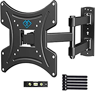 PERLESMITH Full Motion TV Wall Mount Bracket with Swivels Tilts & Extends - for 13-42 Inch Flat Curved TVs & Monitors Max VESA 200x200 - Robust VESA Wall Mount Supports TV Monitor up to 77lbs
