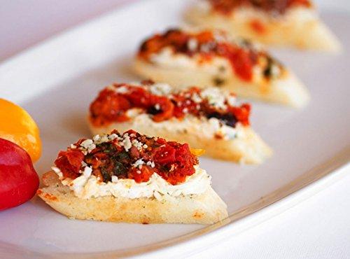 Roasted Yellow Pepper Bruschetta - Gourmet Frozen Bruschetta Appetizers (Set of 4 Trays)