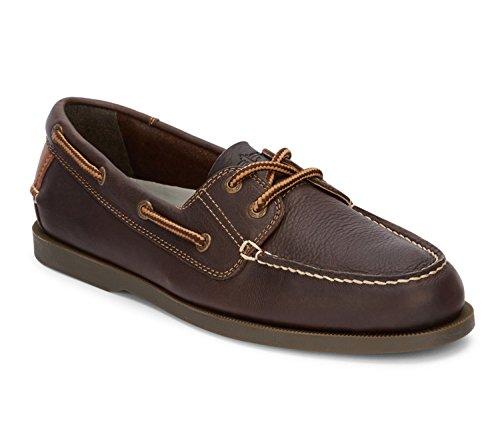 Dockers Men's Vargas Leather Handsewn Boat Shoe, Chocolate - 12 D(M) ()