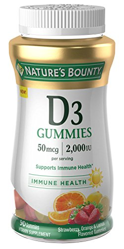 Nature's Bounty Vitamin D, 90 Gummies, Fruit Flavored Gummy Vitamin Supplements for Adults