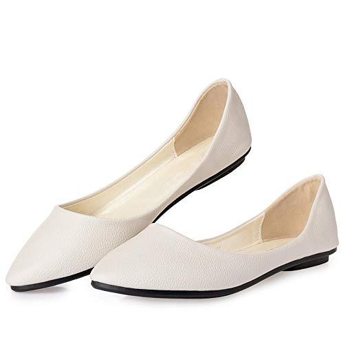 Zapatos Inferior Planos Boca señaló Baja B Oficina Moda de Mujeres la La Trabajo los de Zapatos Suave Parte de Las la cómodos de FLYRCX la de 6xw5aYzfq