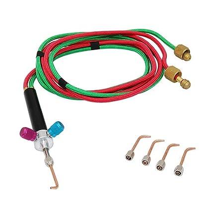 Mini antorcha soldadura soldador conjunto gas oxígeno soldadura antorcha acetileno kit de corte w/5