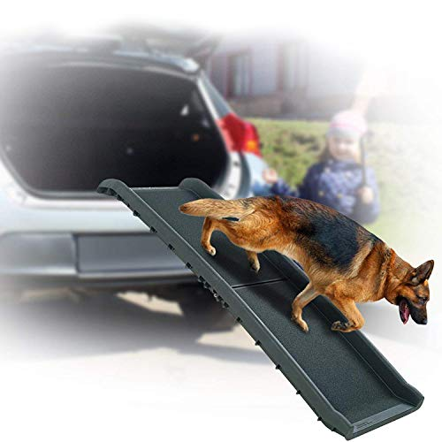 Folding Large Dog Pet Ramp - 62' LONG Portable Foldable Wide Heavy Duty Light Weight, Large Rooms High Beds Sofa Couch Auto Car Truck SUV Indoor Outdoor Ramps For Old Injured Pets Dogs Cats