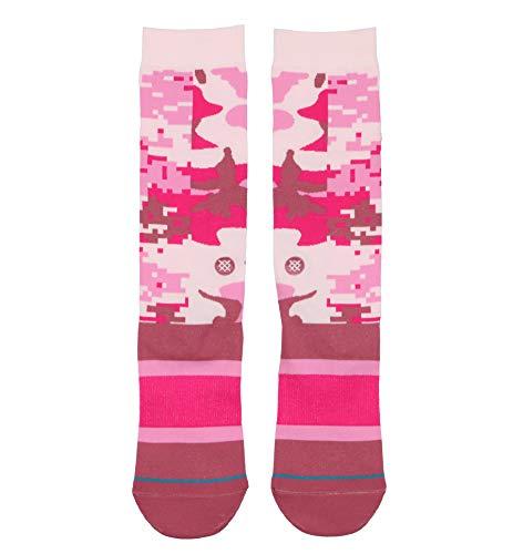 Stance Men's Pink Cam Crew Socks Large (9-12) Pink Camo
