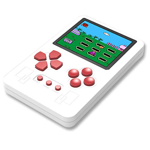 Beico Portable Handheld Game Console for Kids and Adults with Built in 318 Classic Old Style Video Games Perfect for Holiday or Travel Entertainment Children Birthday Gift (White)