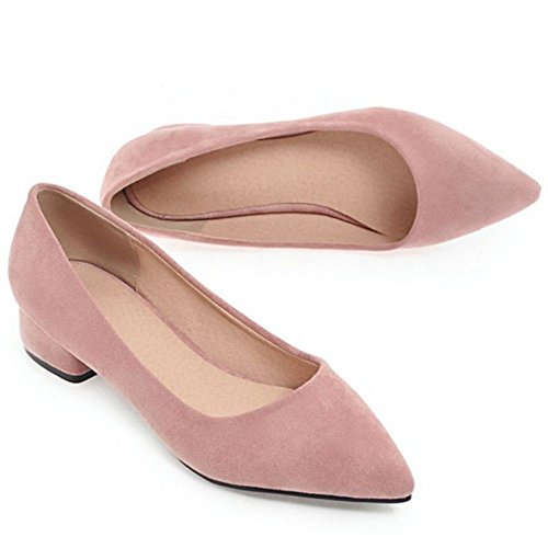 Toe Court 3CM Shoes Pink Pointed RAZAMAZA Women qzw611