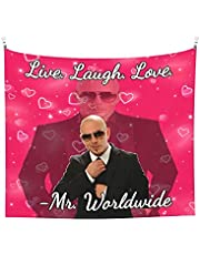 Mr. Worldwide Says to Live Laugh Love Tapestry Boutique Wall Hanging Tapestry Vintage Tapestry Wall Tapestry Micro Fiber Peach Home Decor 60x51inch