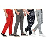 SHAUN Men's Regular Fit Trackpants (Pack of 4)