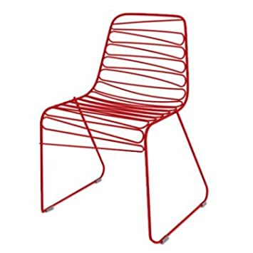 Magis N ° 4 Sillas Apilables Flux Chair Color Rojo: Amazon.es: Hogar