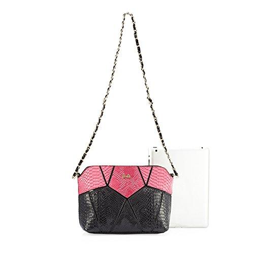 Barbie BBFB168 Bolso de Moda de Moleteado Geométrico Bolso de Hombro Bolso de Moda Rosa