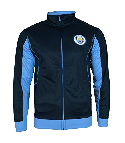 Manchester City Jacket Track Soccer Adult Sizes Soccer Football Official Merchandise (S, Navy Light and Thin 01)