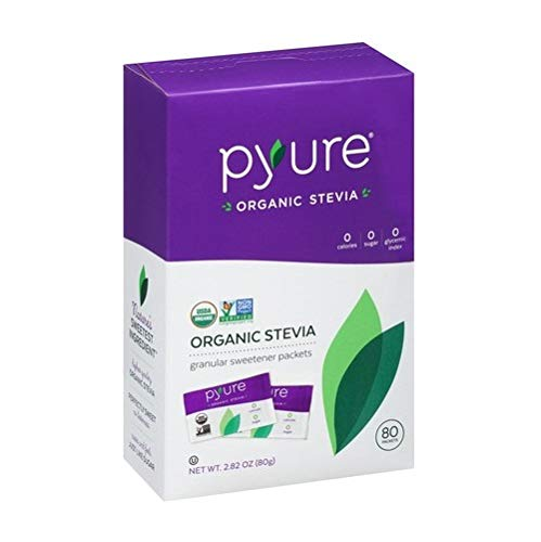 Pyure Organic Stevia Sweetener Packets, 0 Calorie, Sugar Substitute, 80 Count by Pyure (Image #3)