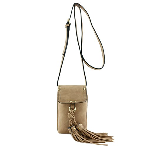 Accent Phone (Cell Phone Pouch Crossbody Bag with Tassel Accent)