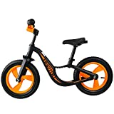 HAPTOO Balance Bike for Kids, 12″ Wheels Lightweight Balance Bike Best for Ages 18 Months to 3.5 Years, Multiple Colors