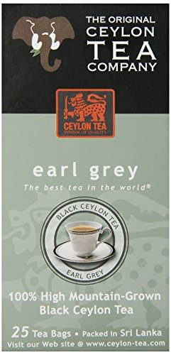The Original Ceylon Tea Company, Earl Grey Tea, 25-Count Tea Bags (Pack of 6)