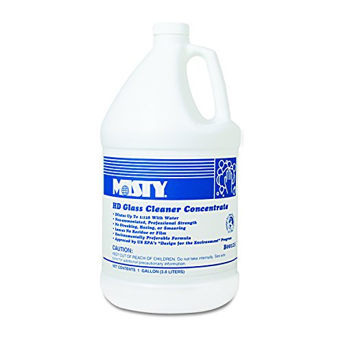 Misty R1254 Heavy-Duty Glass Cleaner Concentrate, Floral, 1gal Bottle (Case of 4)