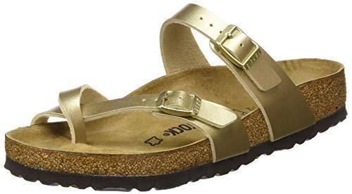 BIRKENSTOCK Damen Passe-pouces Mayari Birko-Flor Gold Sandale