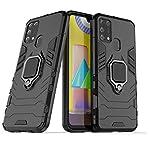 Amzio Bumper Case for Samsung Galaxy M31 Prime/M31/ F41(Rubber;Polycarbonate/Black)