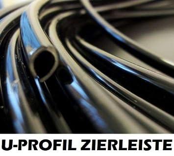 Kantenschutz//Chrom Schwarz Matt//U-Profil//in Verschiedenen Dicken und Gr/ö/ßen//Selbstklebend 9 mm Chrom, 3 m // 300 cm INION /® Zierleiste//Leiste