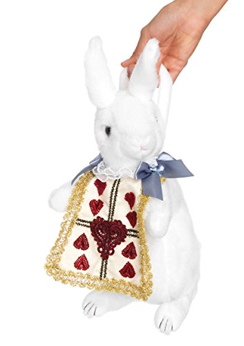 White Rabbit Costume Ladies (Leg Avenue Rabbit Purse Costume Accessory, White/Gold, One Size)