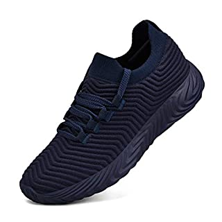 Feetmat Womens Sneakers Slip On Walking Tennis Running Shoes Ultra Lightweight Air Knitted Breathable Mesh Fashion Athletic Gym Sports Non Slip Casual Shoes Navy 10 M US