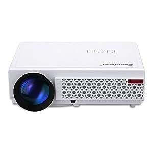 Excelvan LED 96+ Proyector Home Cinema (2500 lúmenes, resolución 1280 x 800, Multimedia IR/TV/HDMI/AV/VGA), con altavoces incorporados, Blanco