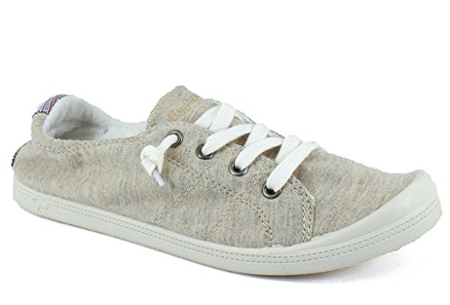 Jellypop Dallas Womens Slip On Sneakers Natural Fabric -