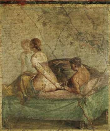 roman fresco painting Erotic