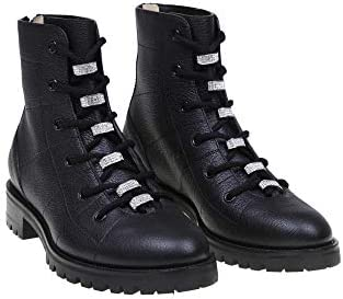 JIMMY CHOO Luxury Fashion Donna BRENFLATIUG Nero Pelle Hi Top Sneakers | Primavera-Estate 20